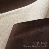 Бронзирующ ткань 100% полиэфира замши кожаный при скрепленная ватка