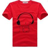 Kundenspezifisches förderndes weißes gedrucktes Shirt-Fabrik-/Men `S T-Shirt