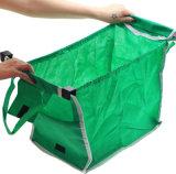 Einkaufswagen-Lebensmittelgeschäft-Beutel-nicht gesponnener Einkaufstasche-Zupacken-Beutel
