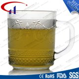 220ml выгравировало конструкцию малая ясная стеклянная чашка чая (CHM8172)