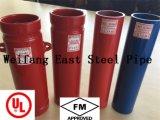 Il colore rosso dell'UL FM ha verniciato i tubi d'acciaio saldati con l'estremità Grooved per la lotta antincendio