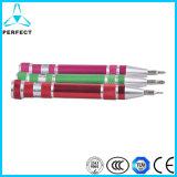 9PCS精密ペンのスクリュードライバーと多色刷り最もよいハンドルの合金