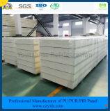ISO, SGS одобрил панель сандвича Pur цвета 50mm стальную для замораживателя холодной комнаты холодной комнаты
