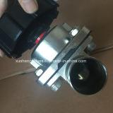 AISI 316L Válvula de diafragma neumática con doble diafragma, normalmente abierto