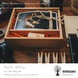 Foto de madera de encargo de Hongdao y rectángulo de almacenaje del USB para la fotografía Wholesale_L