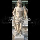 Hand-Geschnitzte Travertin-Skulptur-Marmor-Stein-Granit-Antike-Kalziumstatue Ms-291
