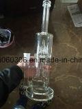 Tubo de agua de cristal grueso verde de Pyrex con la bóveda Perc 8 ''