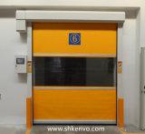 Tela do PVC de Alta Velocidade Rola Acima a Porta para a Sala de Limpeza