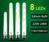 Bombilla LED Edison lámpara E27 LED Tubt185 T300 240V
