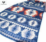 Пряжа пера шарфа способа картины зигзага жаккарда стильной зимы 2016 ацтекская