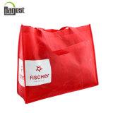 고품질 선전용 PP 비 길쌈된 물색 끈달린 가방