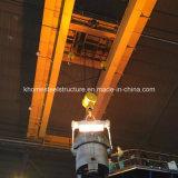 Кран Eot с машинным оборудованием электрической лебедки поднимаясь для сталелитейного завода