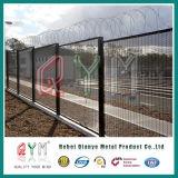 PVC는 4mm 철사 358 방호벽 형무소 담 또는 반대로 상승 담 또는 높은 방호벽을 입혔다