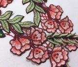 Laço popular do bordado da correção de programa da flor para o vestuário