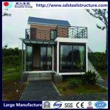 太陽電池パネルが付いているプレハブの鉄骨構造の拡張可能容器の家