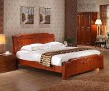 단단한 나무로 되는 침대 현대 2인용 침대 (M-X2240)