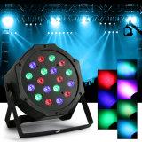 8PCS NENNWERT 18X3w RGB LED Verein-Partei der Stadiums-Licht Uplighting Hochzeits-Disco-KTV