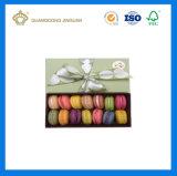 Caixa de empacotamento feita sob encomenda luxuosa de Macaron do papel de embalagem do Macaroon do presente (com nó da fita)