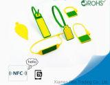 Etiqueta del Wristband de la escritura de la etiqueta de los lazos de la cinta RFID de la frecuencia ultraelevada 860~960MHz para la logística
