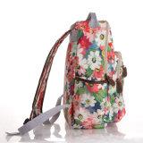 Mochila Escolar PVC impermeable lienzo británica floral retro
