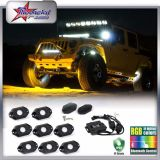 Impermeável RGB LED Rock Light para Toyota Cars, IP67 Certified LED Rock Light, Barco Light, Interior Interior do carro