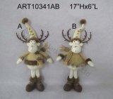 """северный олень с милый рожочками ягоды, украшение 17 """" h Standng Asst-Рождества 2"""