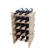 Estantes de visualización amontonables del soporte del almacenaje del estante modular amontonable del vino