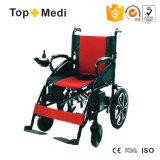 Nuevo estilo de Topmedi plegable el sillón de ruedas de la energía eléctrica