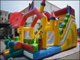 Раздувное оживлённое скольжение волны игрушки замока для спортивной площадки Chrildren (T4-612)