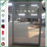 Populäres UPVC doppeltes glasig-glänzendes gehangenes Markisen-Spitzenfenster der Qualitäts-
