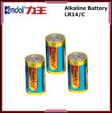 O ambiente livre do cádmio do Mercury da bateria alcalina do tamanho de Lr14 C protege a bateria preliminar