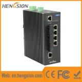 Controlado 5 Tx e interruptor industrial do Ethernet de 3 portas de Fx