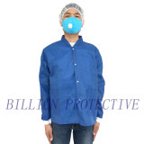 Устранимые Workwear Nonwoven SMS PP/пальто лаборатории с карманн
