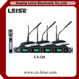 Ls Q6 좋은 품질 4 채널 디지털 오디오 UHF 무선 마이크