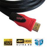 Ethernet à grande vitesse 3D 4k de supports, arc et câble de Hdr HDMI