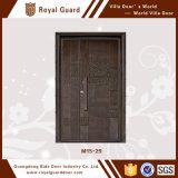 La puerta principal diseña la puerta doble/la puerta de cristal del marco de aluminio/la puerta deslizante del perfil de aluminio