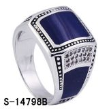 New Design Silver Jewelry Boxing ring for Man