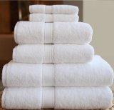 Оптовое полотенце ванны гостиницы, полотенце жаккарда сплошного цвета белое