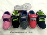 Schoenen van de Sport van de Injectie van de Knoop van Casua Lmagic van het goedkope Jonge geitje de Kleurrijke (ff924-6)