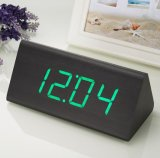 Reloj de madera LED Reloj electrónico Reloj de madera Reloj de casa