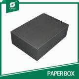 Sapatas onduladas Foldable que empacotam a caixa com carimbo da folha