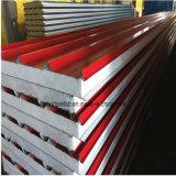 Panel de sándwich EPS de acero de alta calidad de color, panel estructural aislante para casa prefabricada