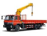 6X4 210HP 10 tonnellate di camion resistente del carico montato con la gru di XCMG