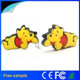 Kundenspezifisches Firmenzeichen-reizendes 2D Winnie-Bär USB-Blitz-Laufwerk