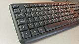 Enrarecer el teclado de ordenador silencioso atado con alambre del trabajo de oficina del USB
