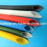 Fibre de verre enduite de silicone résistante de température élevée gainant pour l'application de transformateurs