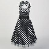 サイズデザイナーパーティー向きのドレスと型50sのセクシーな背部が開いた女性