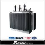 Transformateur immergé dans l'huile de distribution d'énergie électrique de 3 phases