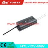 bloc d'alimentation imperméable à l'eau de l'interpréteur de commandes interactif en aluminium continuel DEL de la tension 12V-80W