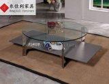 Mesa de centro redonda com parte superior do vidro Tempered